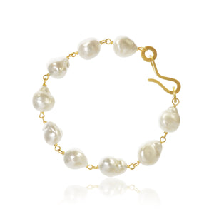 Grand Ocean bracelet with Baroque South Sea pearls.