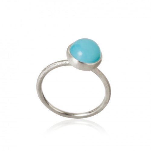 Pacific ring. Small top with turquoise.