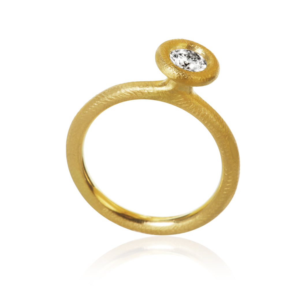 Glory ring med 1 brillant, Guld 18K, Dulong Fine Jewelry