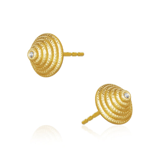 Thera Twist earrings with brillants. Medium.