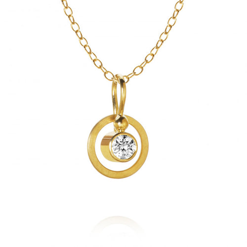 Twinkle necklace with 1 brilliant cut diamond. 0,12 ct. F/G, vs2, Ex. cut. with Stream chain, 47 cm.