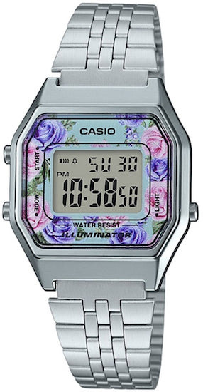 CASIO VINTAGE LADY STEEL FLOWERS
