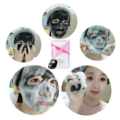 5x Glammask™ Oxygen Charcoal Bubble Mask