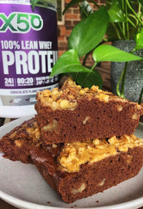 Green Tea X50 Eggplant Protein Brownies