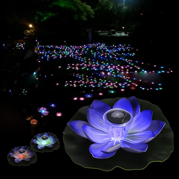 Solar Powered Multi-colored Lotus Flower Lamp