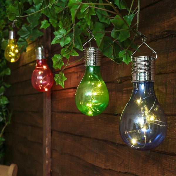 Waterproof LED Garden Hanging Solar Light Bulb