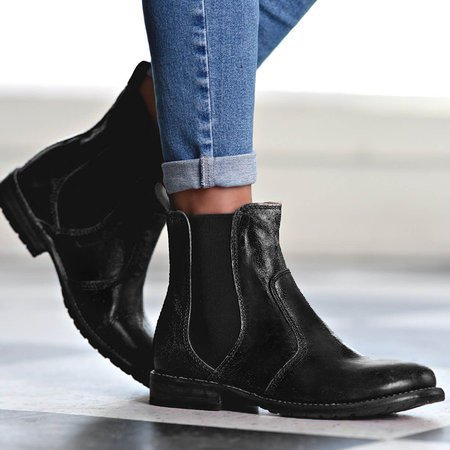 Plus Size Ankle Booties Slip-on Chelsea Boots