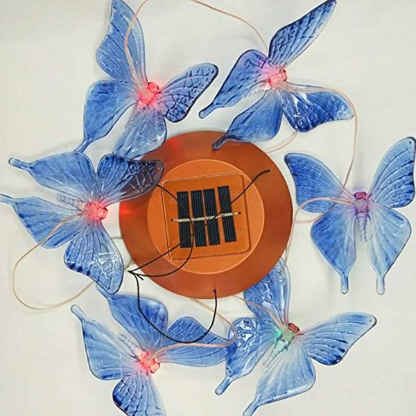 Solar Powered Butterfly Wind Chime Light