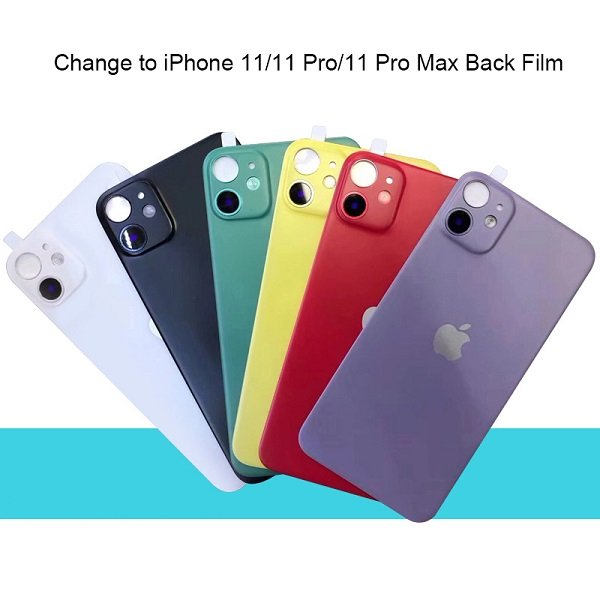 Modified Back Protector Seconds Change Cover Sticker for iPhone X/XS/XS MAX/XR Change to iPhone 11/11 Pro/11 Pro MAX