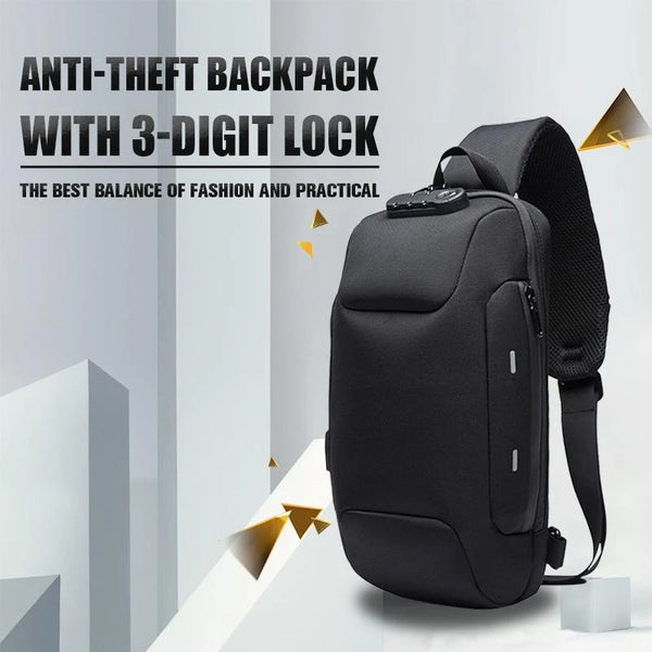 Anti Theft Backpack With 3-Digit Lock