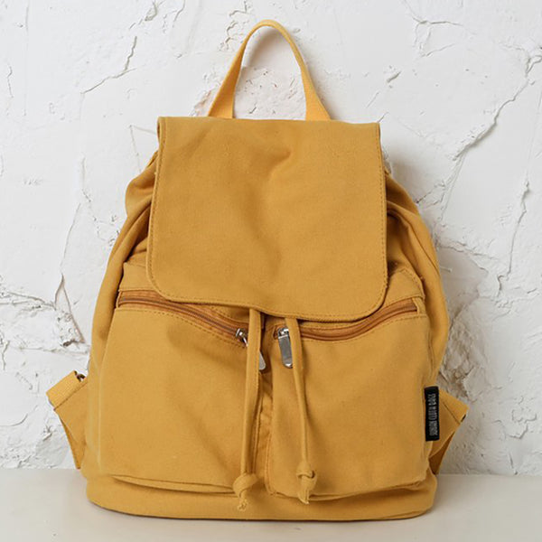 Women Casual Drawstring Canvas Backpacks