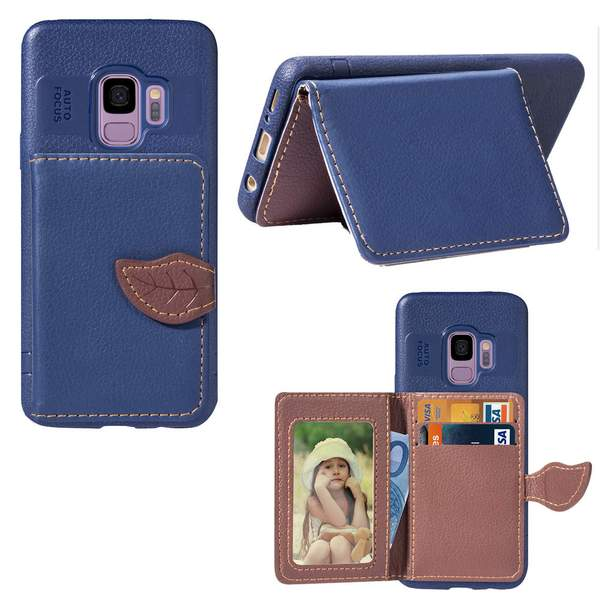 Luxury Retro PU Leather Wallet Card Slot Holder Phone Case For Samsung