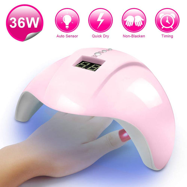 USB Nail Lamp 36W Nail Curing Lamp UV LED Light for All Manicure Gel Polish with LCD Display