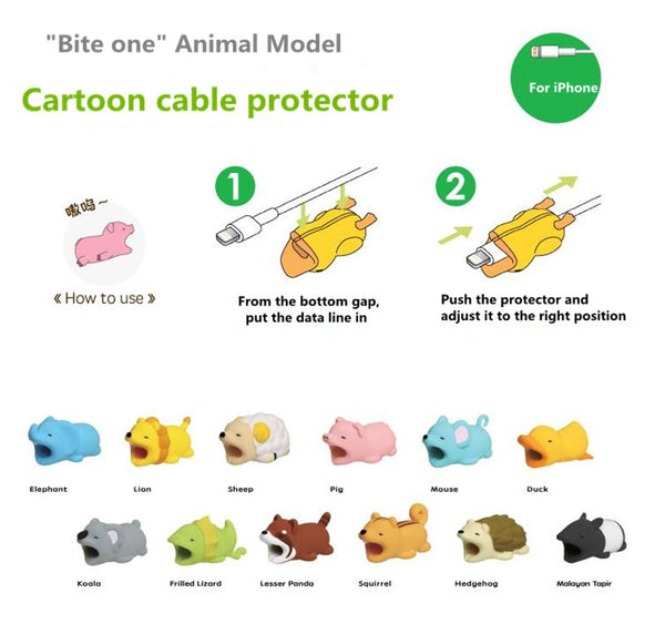 Cartoons Animal Cable Protector[Buy 3pcs Free Shipping Code:FREESP]