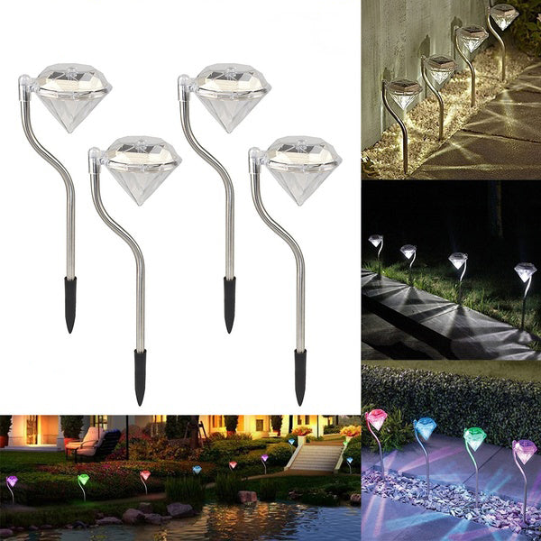 Waterproof Diamond Solar LED Garden Lights