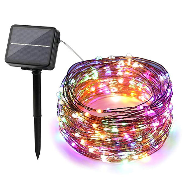 200 LEDs Solar Powered Color Changing LED String Lights