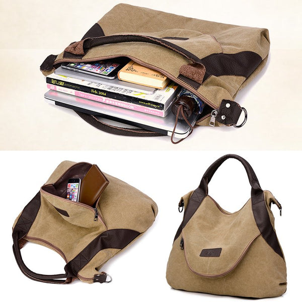 Women High-capacity Travel Canvas Shoulder Bags