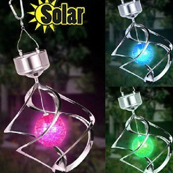 LED Color Changing Solar Wind Chime