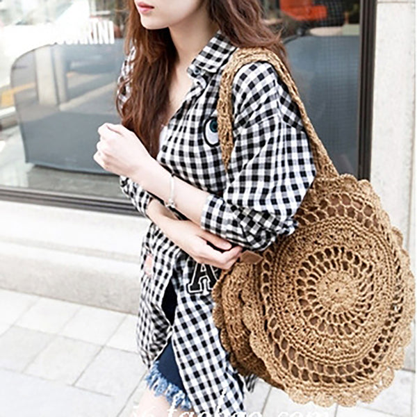 Holiday Woven Beach Summer Straw Shoulder Bags