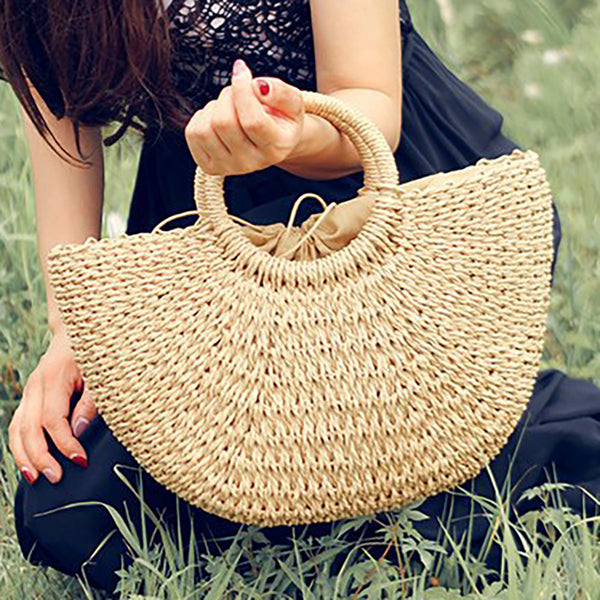 Summer Style Straw Bucket Shoulder Bags