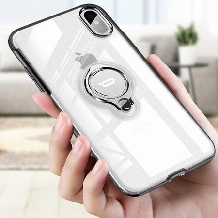Fashion Magnetic Bracket Transparent Case For iPhone