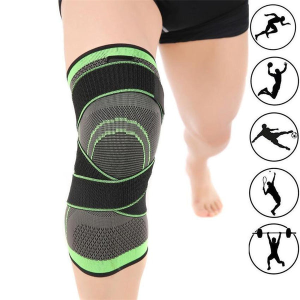3D Pressurization Weaving Knee Brace Support Pad