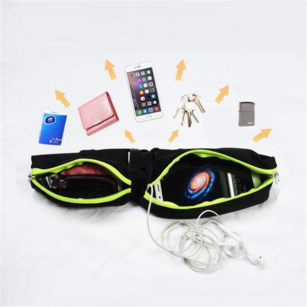 Outdoor Dual Pouch Waterproof Running Belt