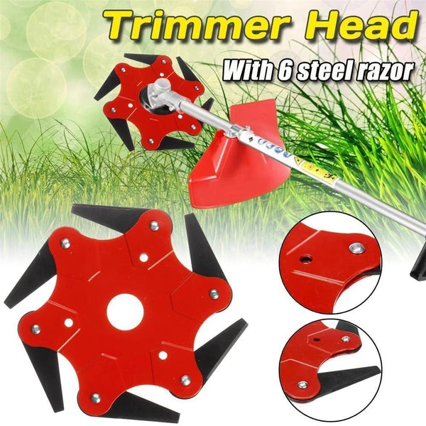 6 Steel Razors Trimmer Head