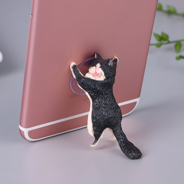 6 Pack Kitty Cat Phone Sucker Stand
