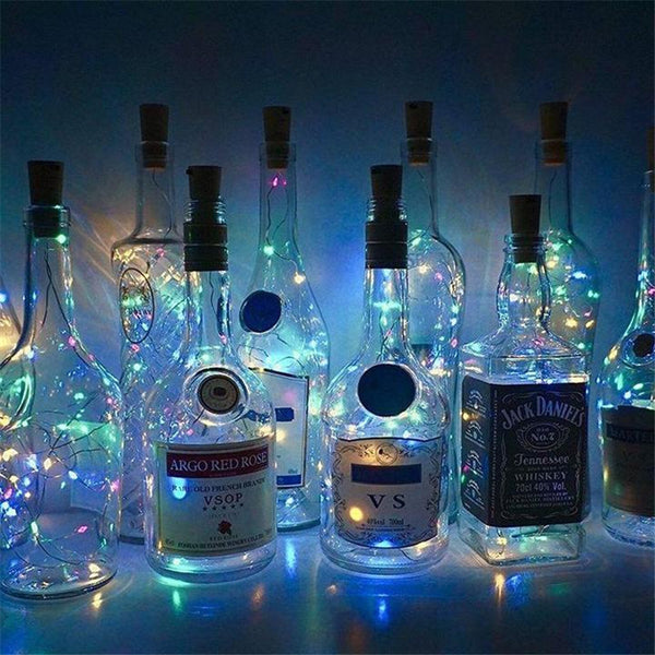 10Pack Wine Bottle Lights with Cork