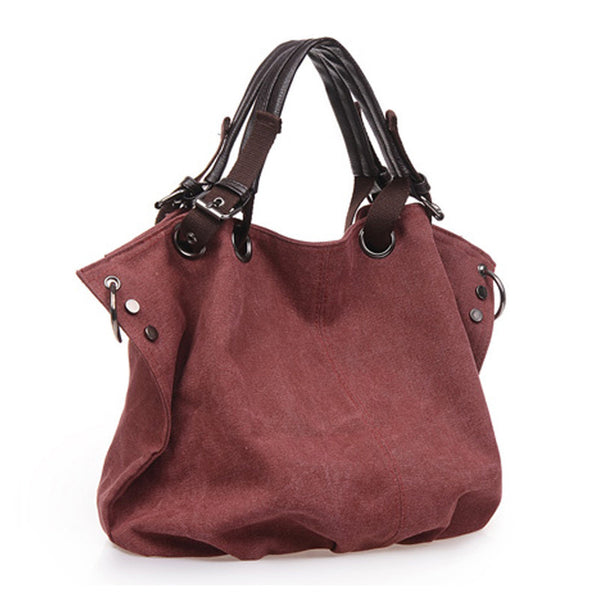 Women High Capacity Canvas Shoulder Bags