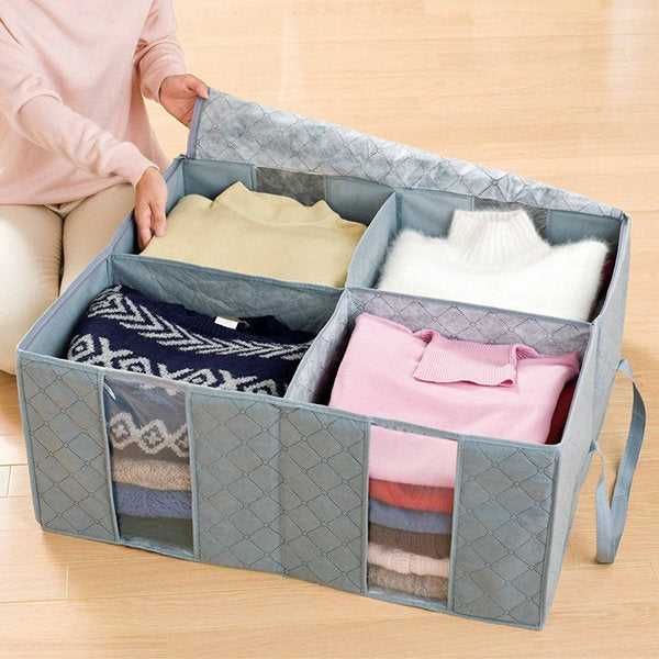 115L Bamboo Charcoal Folding Clothes Quilt Storage Bags