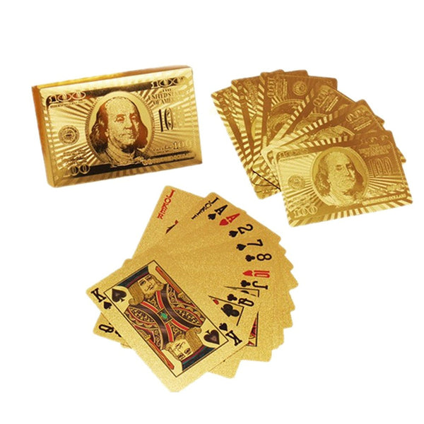 Brilliant Gold Playing Cards