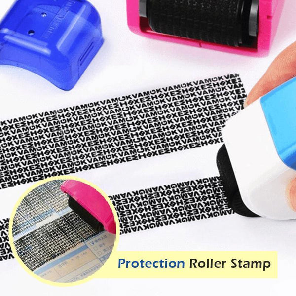 Identity Theft Prevention Security Stamp Wide Roller Security Stamp Kits