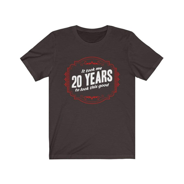 20th Birthday T-Shirt Chocolate/Brown / S  - VPI Shop