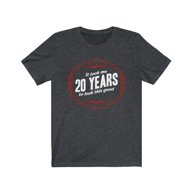 20th Birthday T-Shirt Dark Grey Heather / S  - VPI Shop