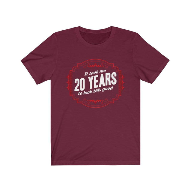 20th Birthday T-Shirt Maroon / S  - VPI Shop
