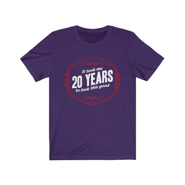 20th Birthday T-Shirt Team Purple / S  - VPI Shop