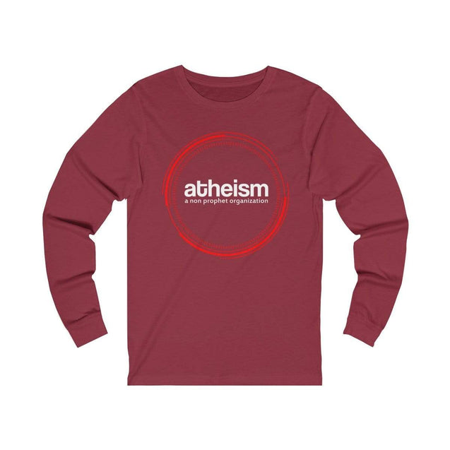 Atheism Long Sleeve T-Shirt Cardinal / S  - VPI Shop
