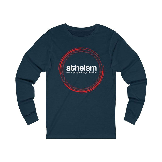 Atheism Long Sleeve T-Shirt Navy / S  - VPI Shop