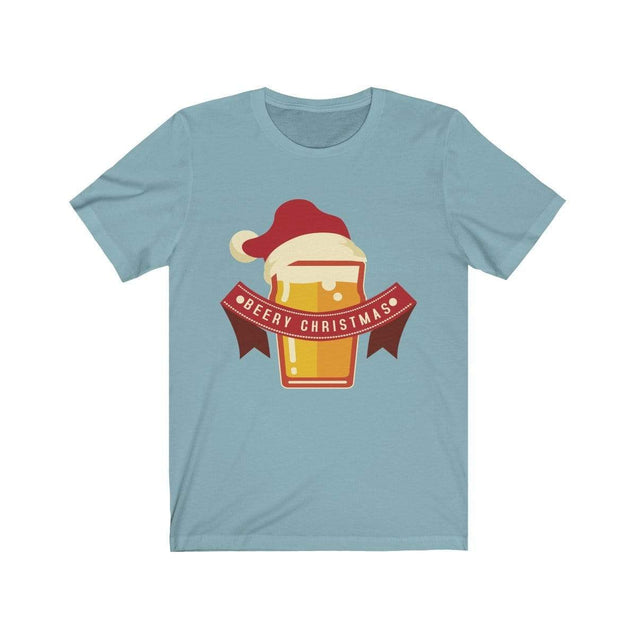Beery Christmas T-Shirt Baby Blue / S  - VPI Shop