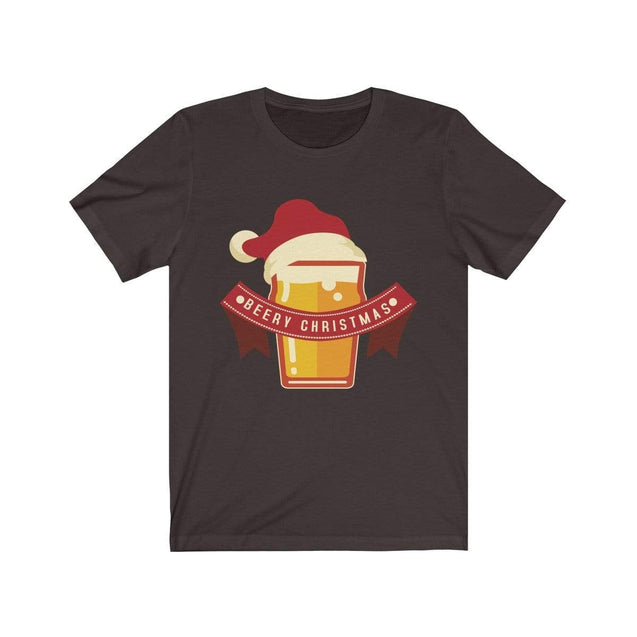 Beery Christmas T-Shirt Chocolate/Brown / S  - VPI Shop