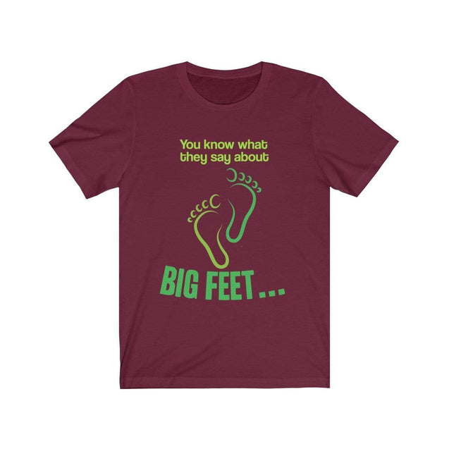 Big Feet T-Shirt Maroon / S  - VPI Shop