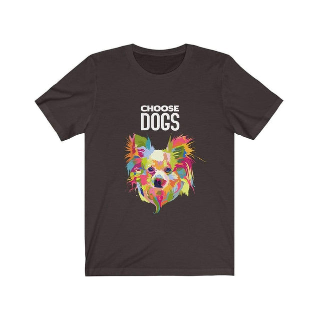 Choose Dogs T-Shirt Chocolate/Brown / S  - VPI Shop