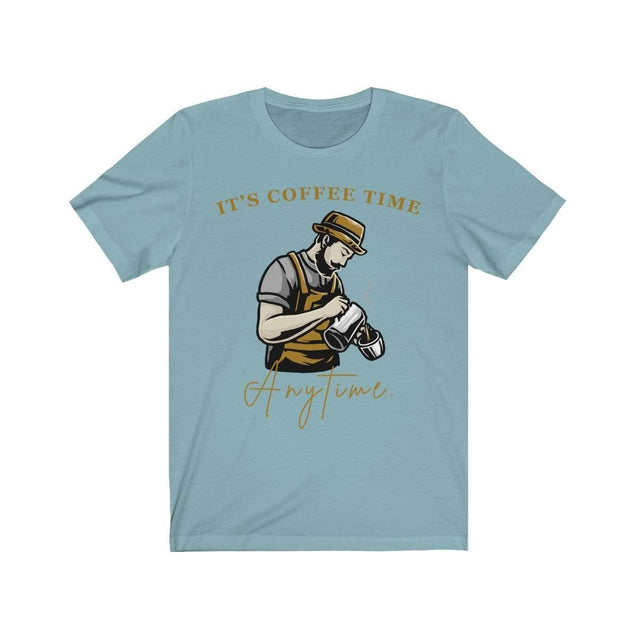Coffee Time T-Shirt Baby Blue / S  - VPI Shop