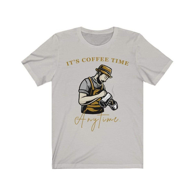 Coffee Time T-Shirt Silver / S  - VPI Shop