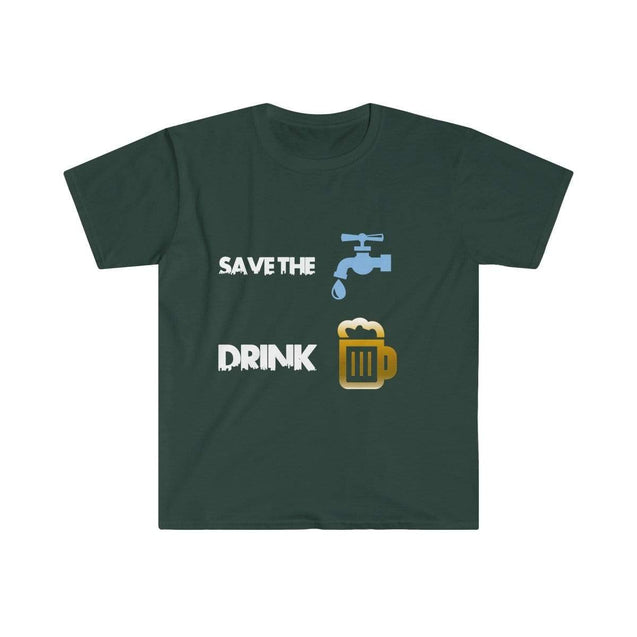 Drink beer Black Men's T-Shirt - VPI Shop S / Forest Green  - VPI Shop