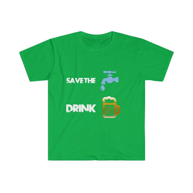 Drink beer Black Men's T-Shirt - VPI Shop S / Irish Green  - VPI Shop