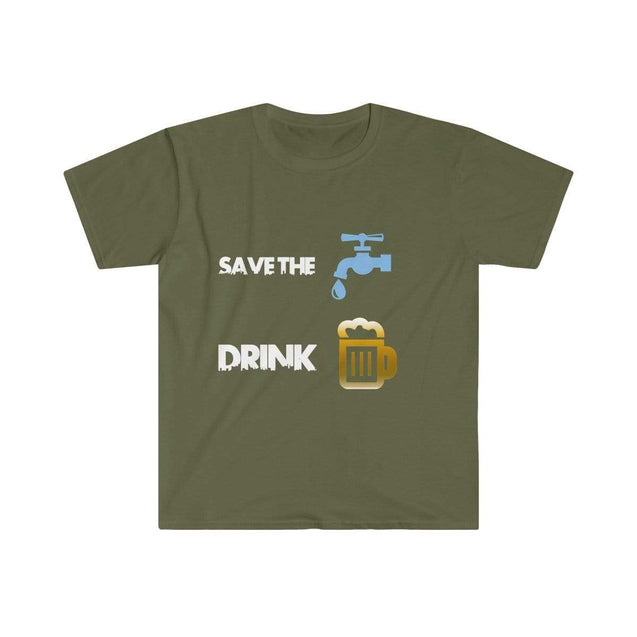 Drink beer Black Men's T-Shirt - VPI Shop S / Military Green  - VPI Shop