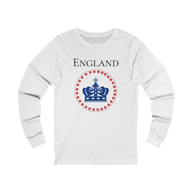 England Long Sleeve T-Shirt White / L  - VPI Shop